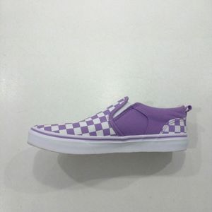 Vans Asher - Purple Checker Sneaker